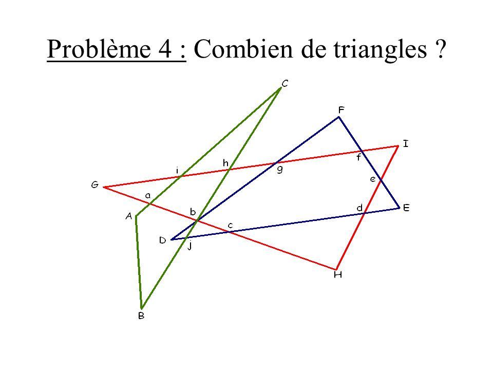 Problème 4 : Combien de triangles