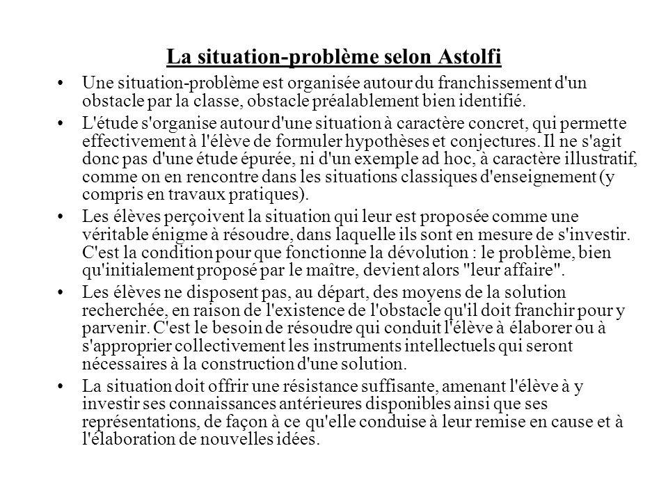 La situation-problème selon Astolfi