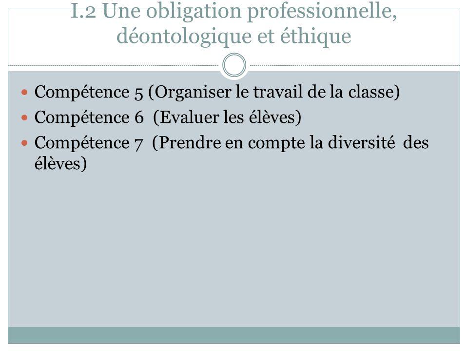 I.2 Une obligation professionnelle, déontologique et éthique