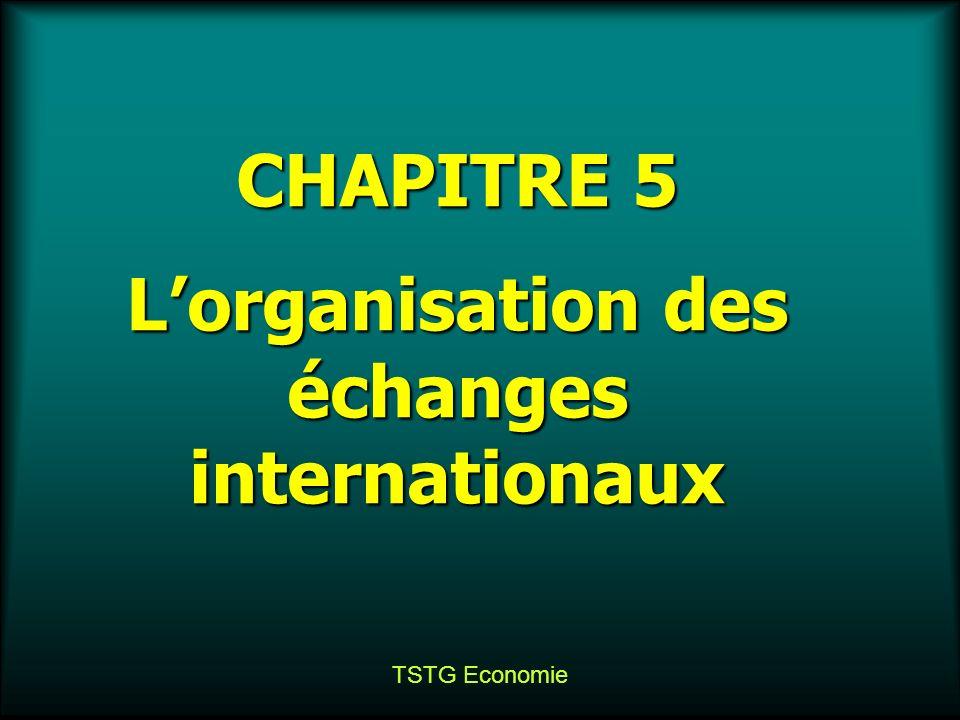 L'organisation des échanges internationaux