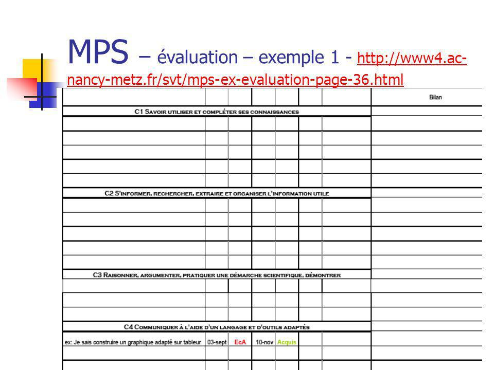 MPS – évaluation – exemple 1 - http://www4. ac-nancy-metz