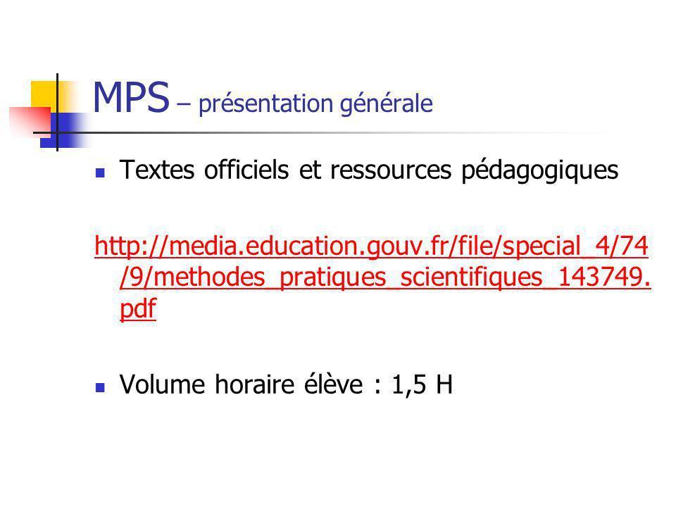 MPS – présentation générale