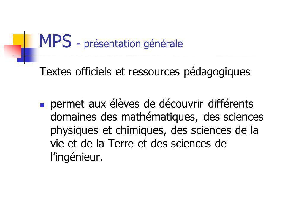 MPS - présentation générale