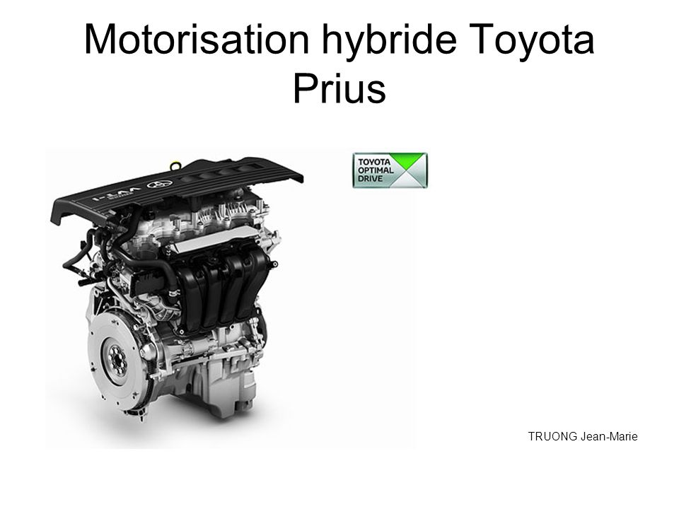 motorisation hybride toyota prius ppt video online t l charger. Black Bedroom Furniture Sets. Home Design Ideas