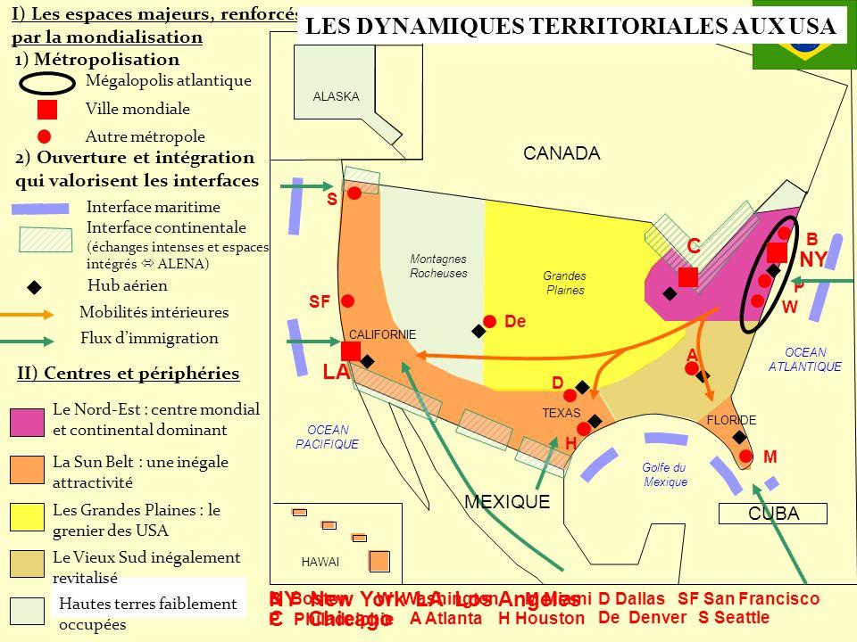 LES DYNAMIQUES TERRITORIALES AUX USA