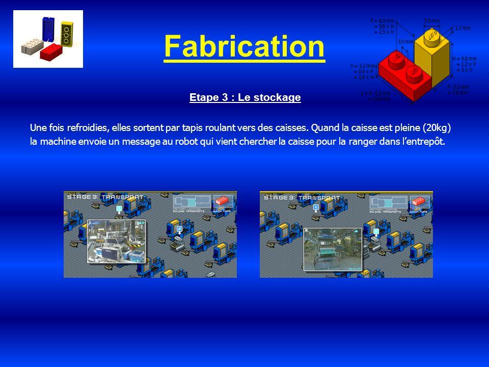 Fabrication Etape 3 : Le stockage