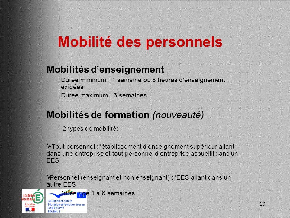 Mobilité des personnels