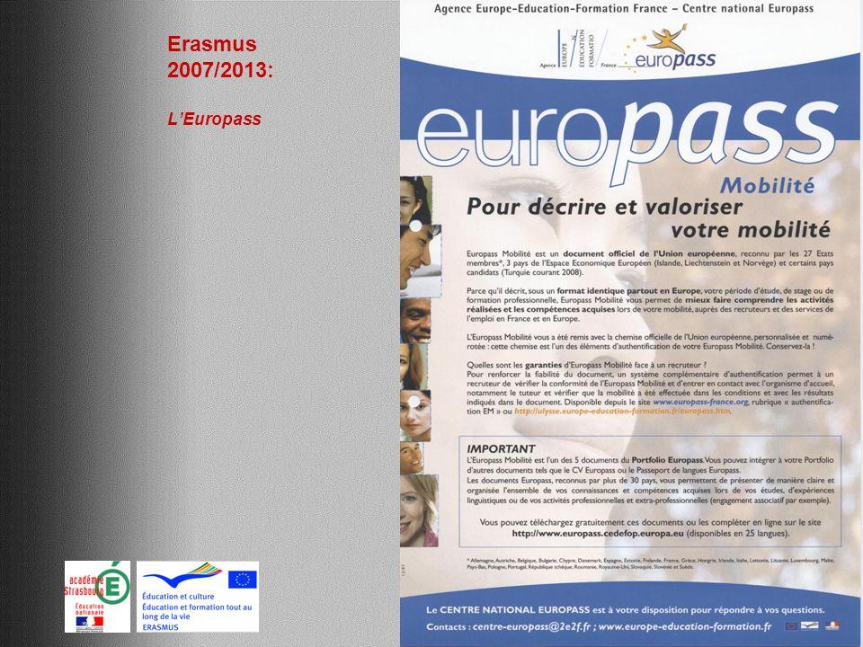 Erasmus 2007/2013: L'Europass