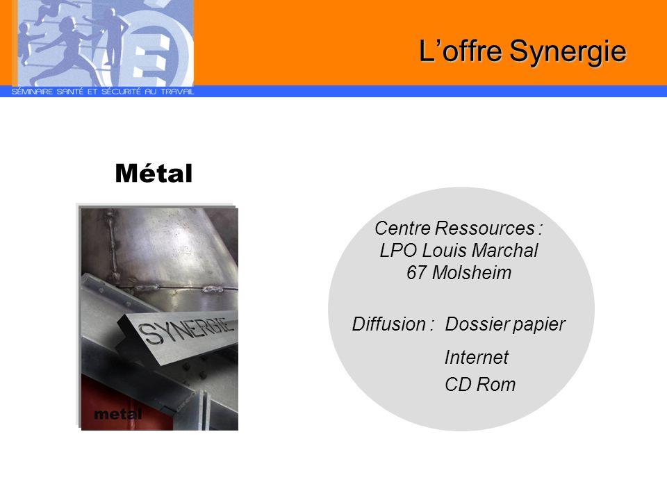 L'offre Synergie Métal Centre Ressources : LPO Louis Marchal