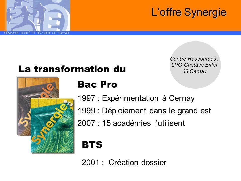 L'offre Synergie La transformation du bois Bac Pro BTS
