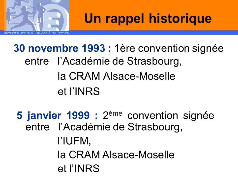 Un rappel historique la CRAM Alsace-Moselle et l'INRS
