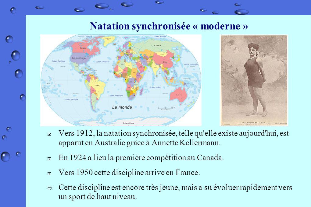 Natation synchronisée « moderne »