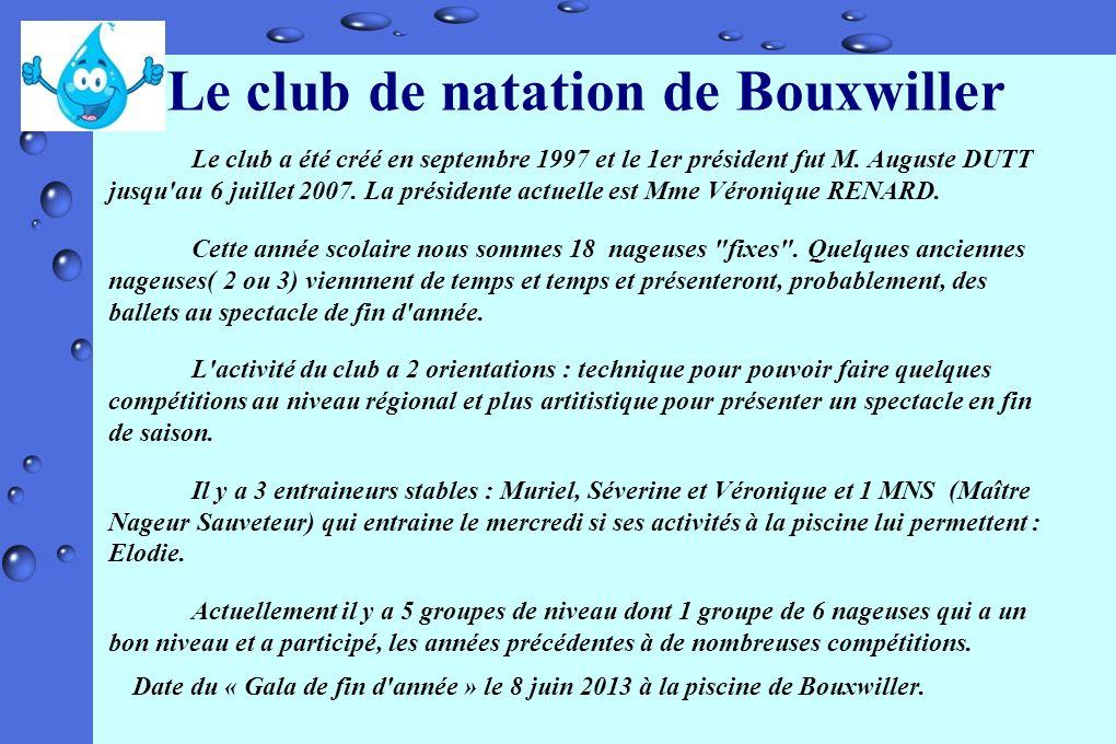 Le club de natation de Bouxwiller