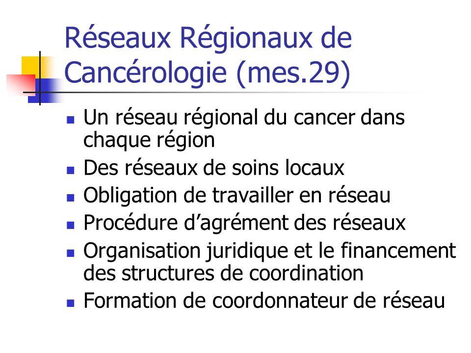 Réseaux Régionaux de Cancérologie (mes.29)
