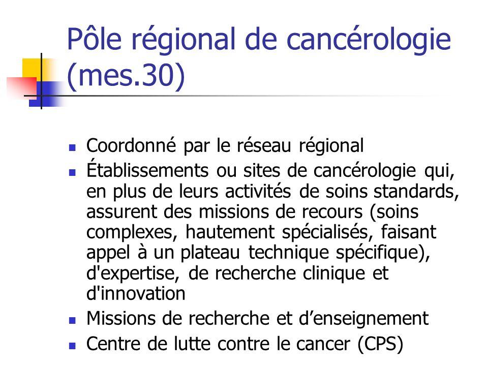 Pôle régional de cancérologie (mes.30)