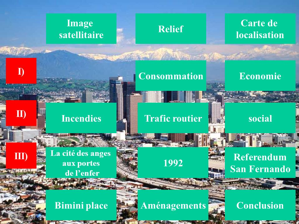 Image satellitaire Relief Carte de localisation I) Consommation