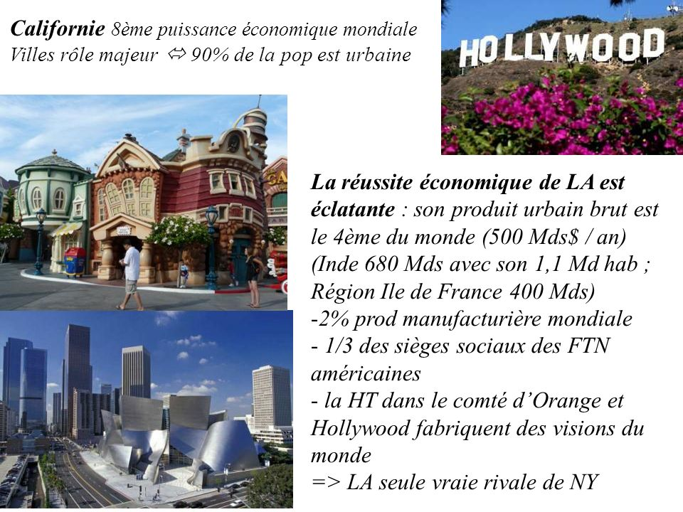 Californie 8ème puissance économique mondiale