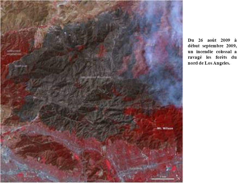 Du 26 août 2009 à début septembre 2009, un incendie colossal a ravagé les forêts du nord de Los Angeles.
