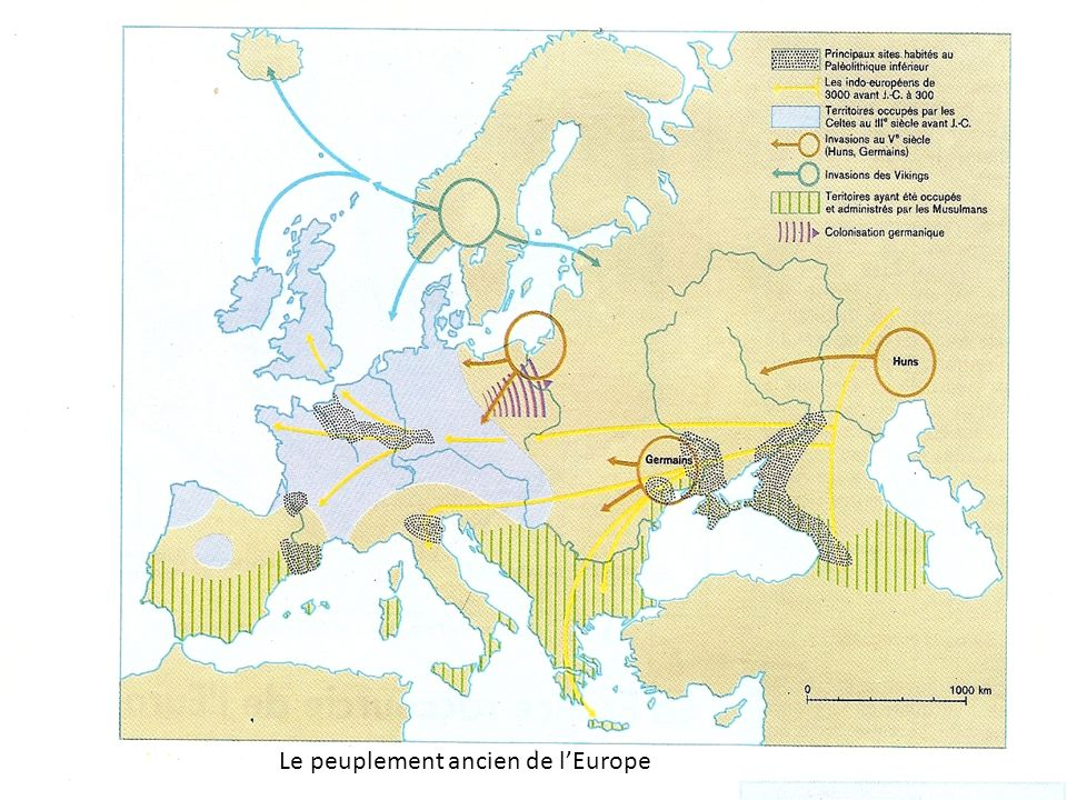 Le peuplement ancien de l'Europe