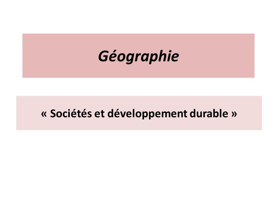« Sociétés et développement durable »