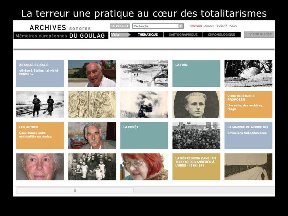 La terreur une pratique au cœur des totalitarismes