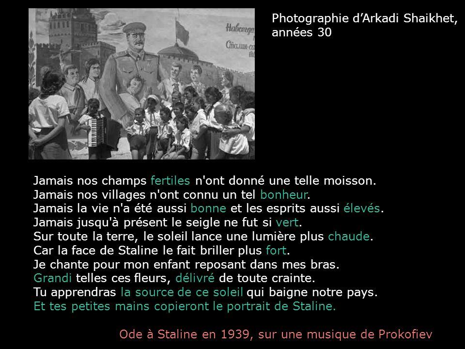 Photographie d'Arkadi Shaikhet, années 30