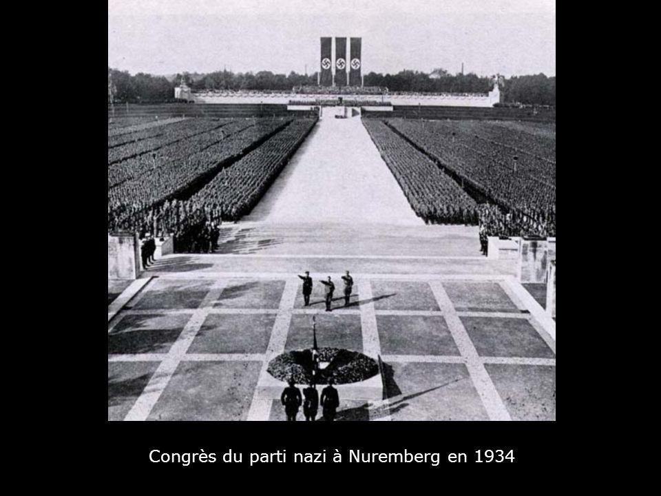 Congrès du parti nazi à Nuremberg en 1934