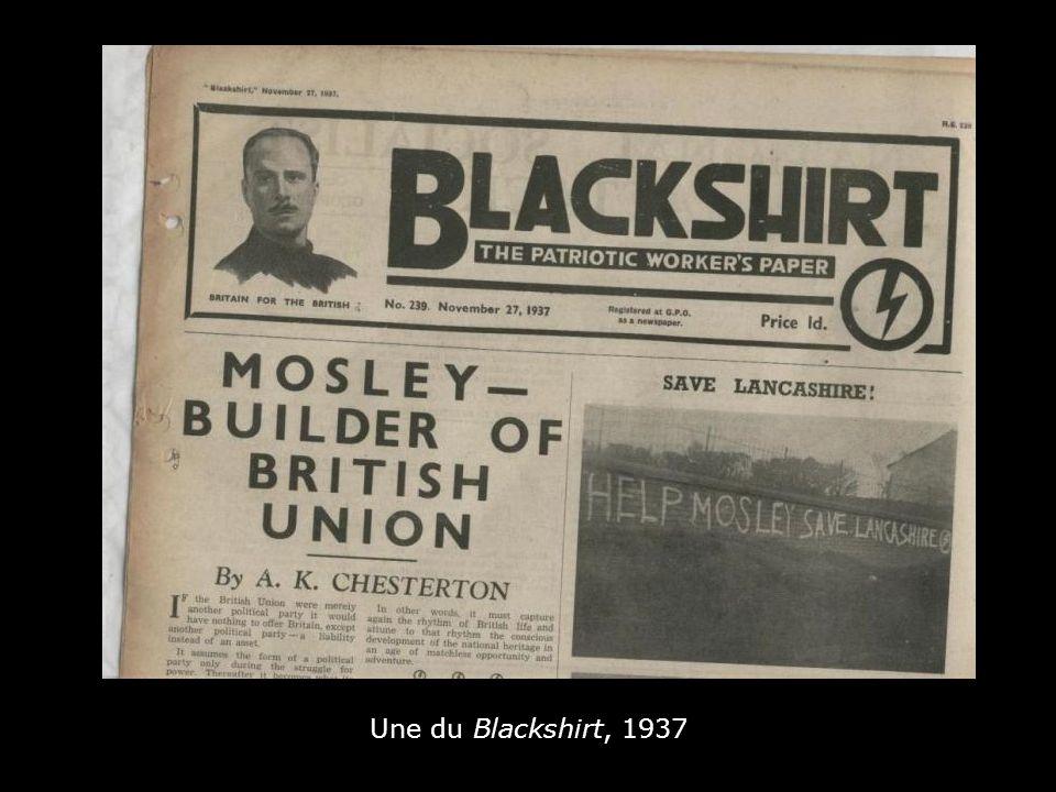 Une du Blackshirt, 1937