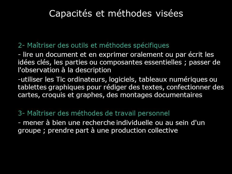 Capacités et méthodes visées