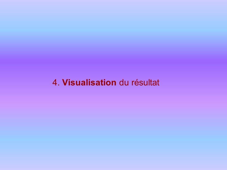 4. Visualisation du résultat