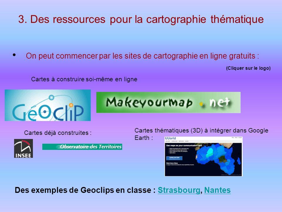 3. Des ressources pour la cartographie thématique