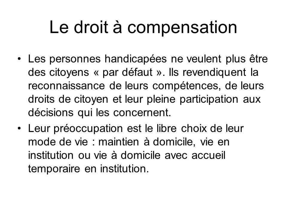 Le droit à compensation