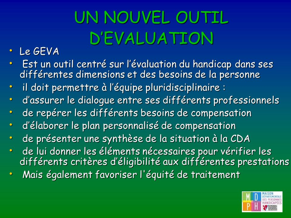 UN NOUVEL OUTIL D'EVALUATION