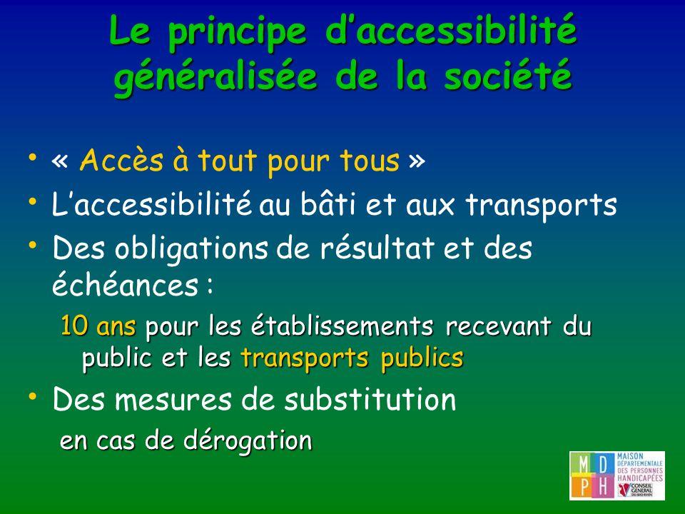 Le principe d'accessibilité généralisée de la société