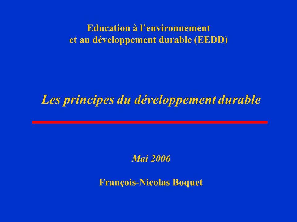 Education à l'environnement et au développement durable (EEDD)
