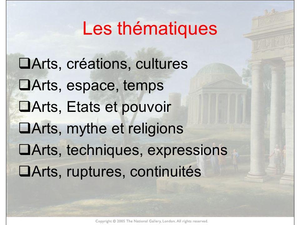 Les thématiques HISTOIRE DES ARTS Arts, créations, cultures