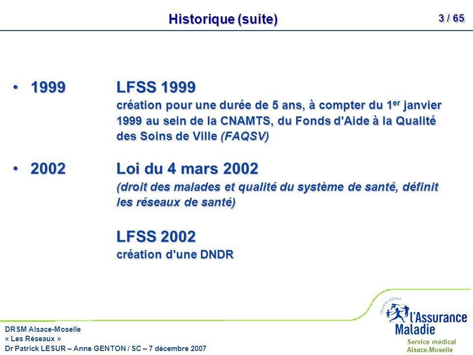 Historique (suite)
