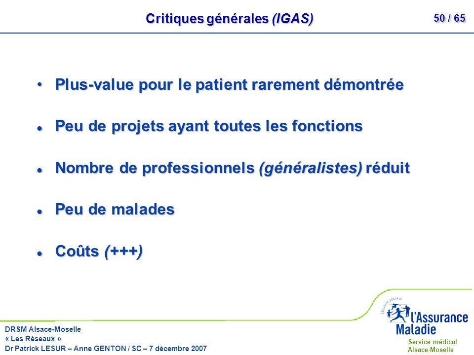 Critiques générales (IGAS)