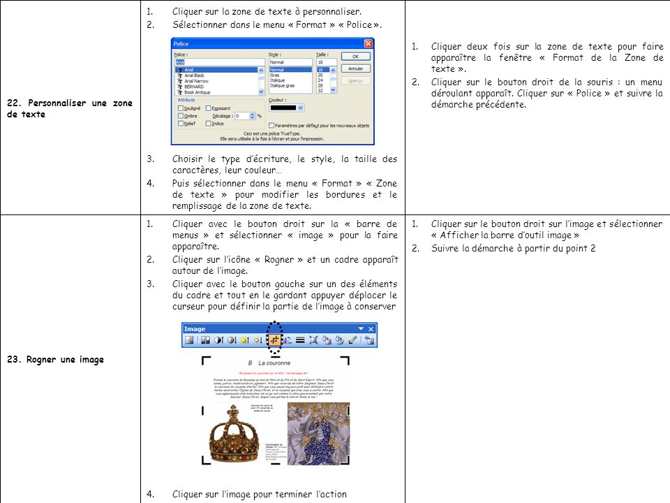 Cliquer deux fois sur la zone de texte pour faire apparaître la fenêtre « Format de la Zone de texte ».