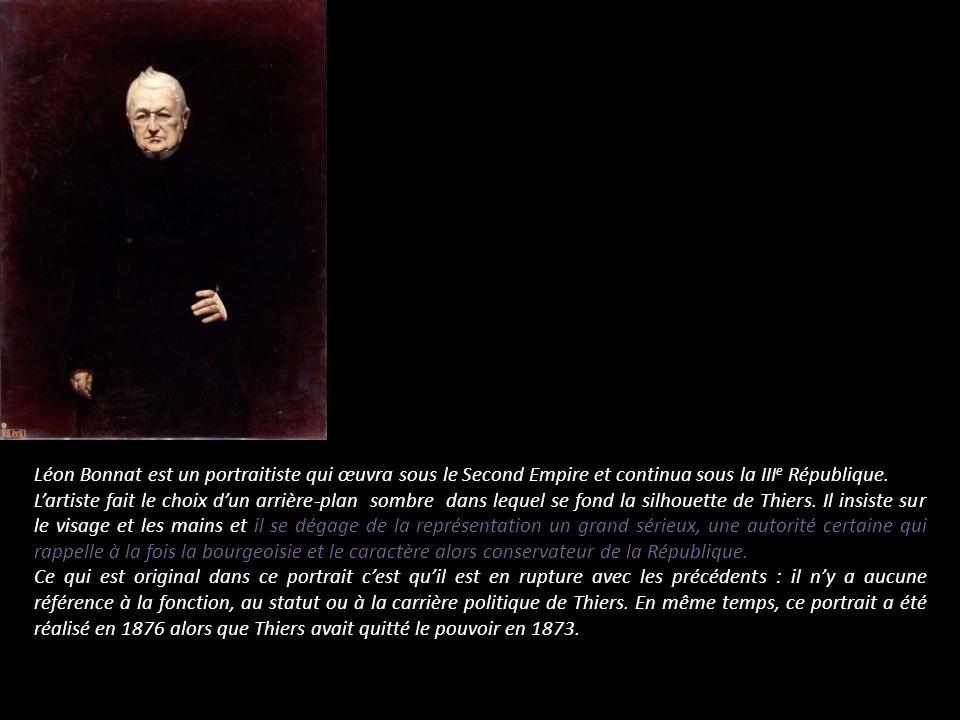 Léon Bonnat est un portraitiste qui œuvra sous le Second Empire et continua sous la IIIe République.