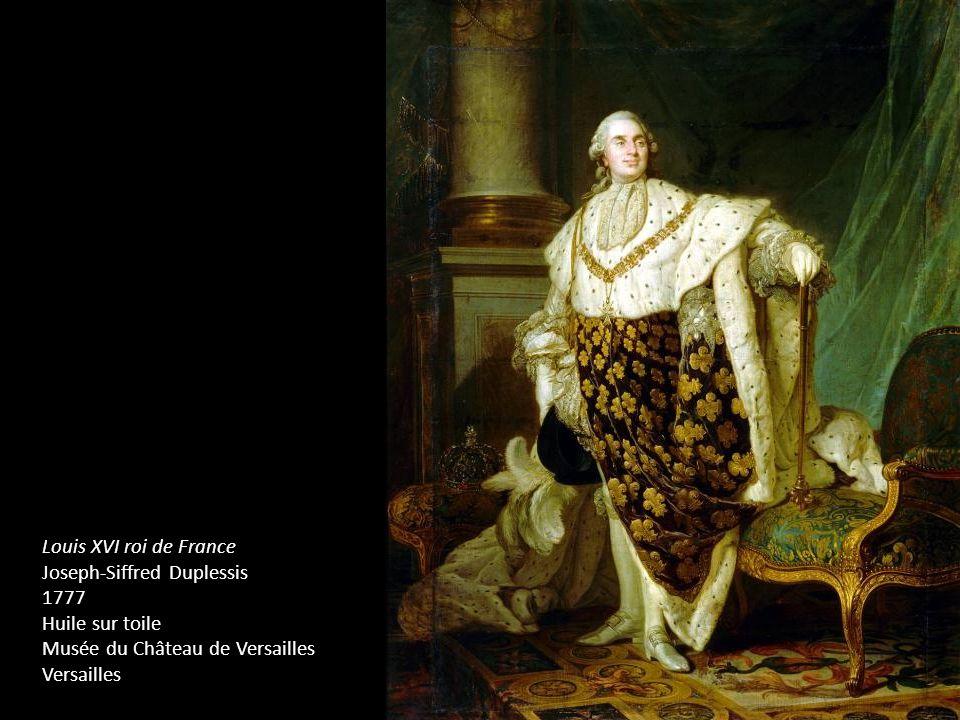 Louis XVI roi de FranceJoseph-Siffred Duplessis. 1777. Huile sur toile. Musée du Château de Versailles.