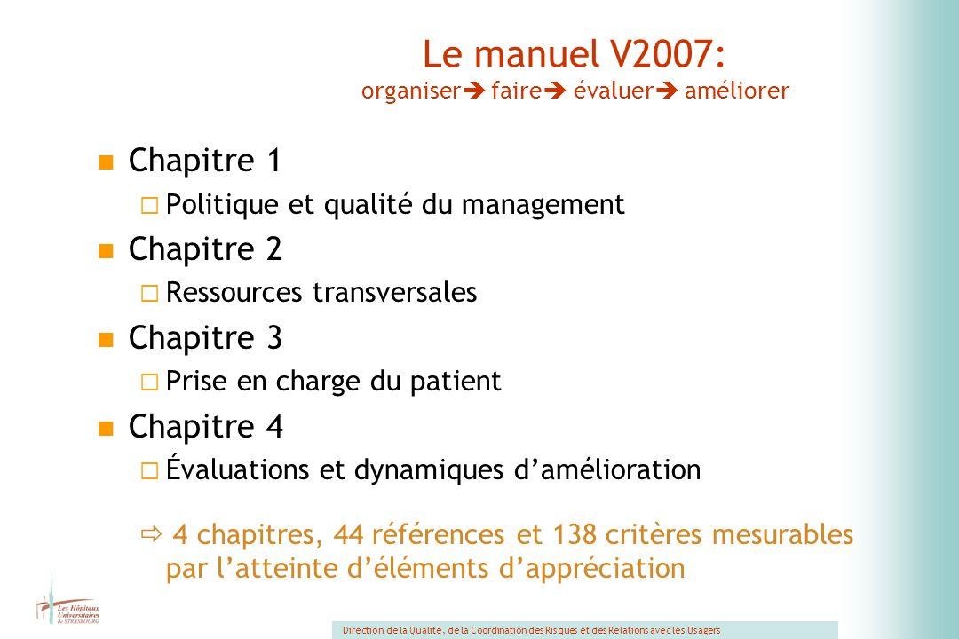 Le manuel V2007: organiser faire évaluer améliorer