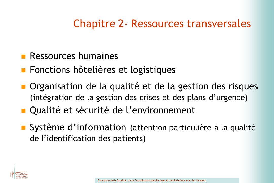 Chapitre 2- Ressources transversales