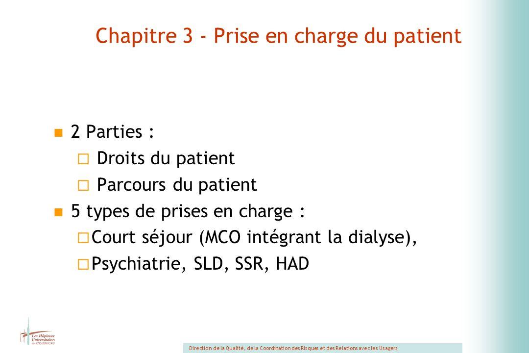 Chapitre 3 - Prise en charge du patient