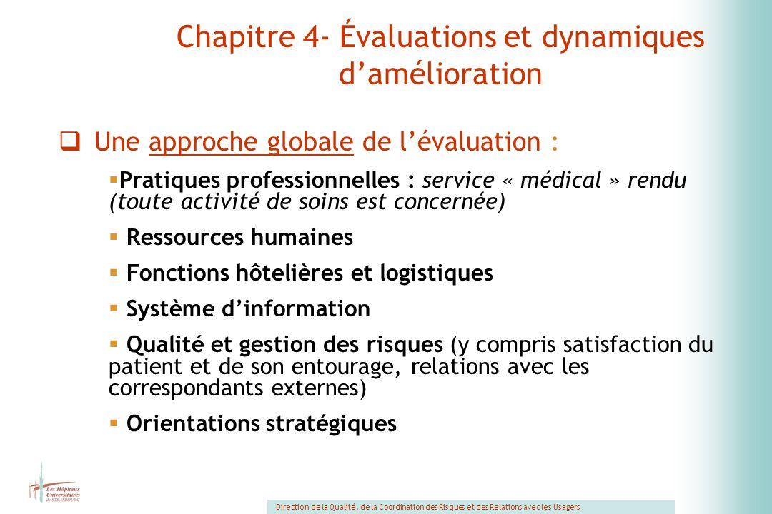 Chapitre 4- Évaluations et dynamiques d'amélioration