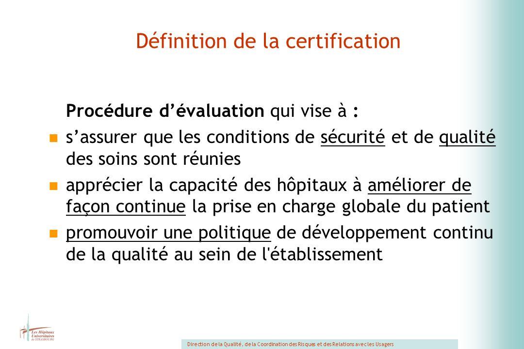 Définition de la certification