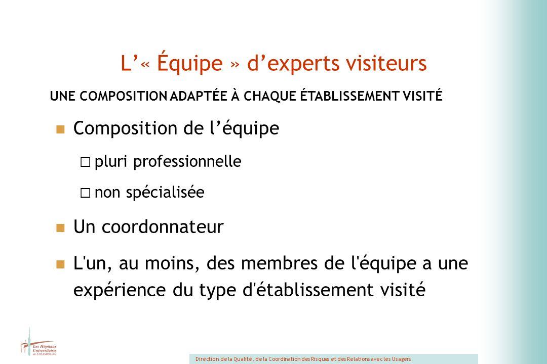 L'« Équipe » d'experts visiteurs