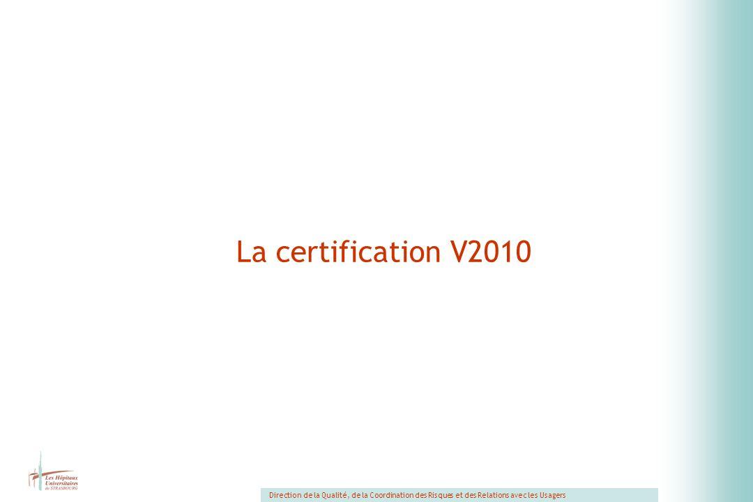 La certification V2010