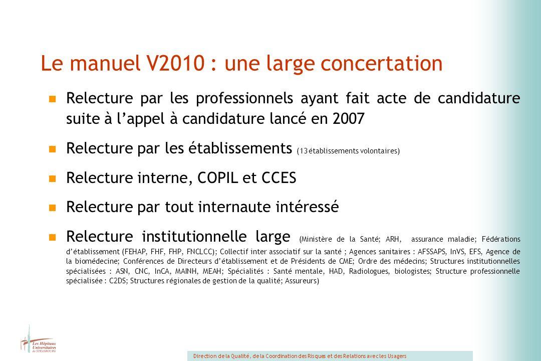 Le manuel V2010 : une large concertation