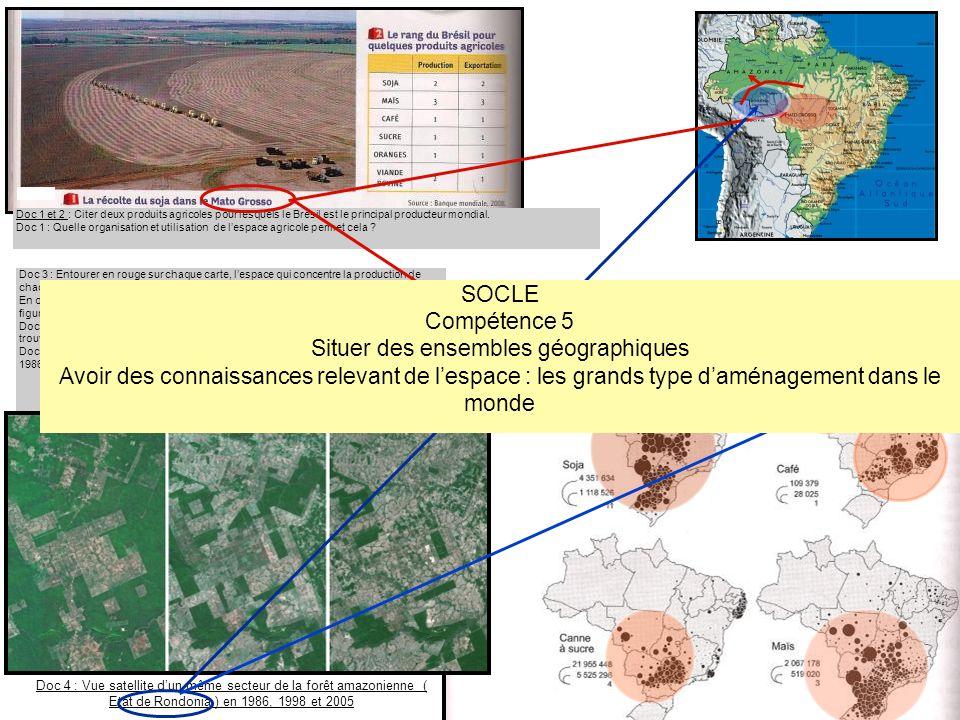 Situer des ensembles géographiques
